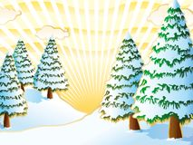 зима золота Стоковая Фотография RF