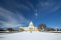 Зима, здание столицы государства, St Paul, Минесота, США стоковое изображение rf