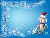 зима игрушки зайцев предпосылки Стоковые Изображения RF