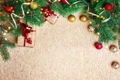 зима иллюстрации конструкции рождества предпосылки Счастливый Новый Год, с Рождеством Христовым Стоковые Фотографии RF