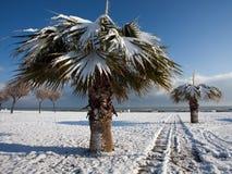 зима итальянки пляжа Стоковые Изображения