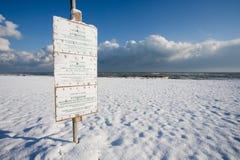 зима итальянки пляжа Стоковое Изображение