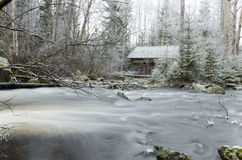 Зима и вода Стоковая Фотография RF
