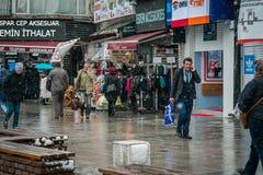 Зима и снег в Стамбуле стоковое фото