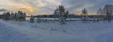 Зима и солнце Стоковые Фото