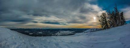 Зима и солнце Стоковое фото RF