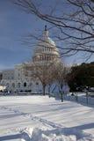 зима капитолия стоковая фотография