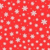 зима картины безшовная снежинки предпосылки красные белые Нарисовано вручную бесплатная иллюстрация