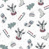 зима картины безшовная также вектор иллюстрации притяжки corel Бесплатная Иллюстрация