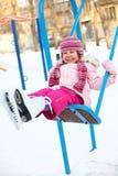 зима качаний детей Стоковая Фотография RF