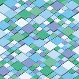 Зима Квадратный дизайн угла предпосылки вектора мозаики Безшовные цвета картины зимы Стоковое Изображение RF