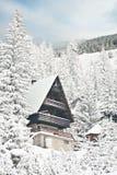 Зима квартиры туристской вмещаемости Стоковое Фото
