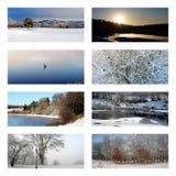 зима коллажа стоковое изображение rf