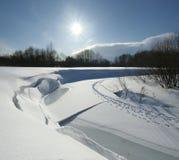 зима конца дня солнечная Стоковые Фото