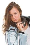 зима костюма спортов стекел девушки серая сексуальная Стоковые Фотографии RF