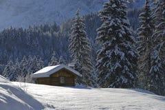 зима коттеджа одинокая Стоковое Фото