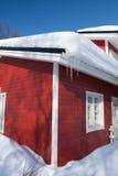 зима коттеджа Стоковые Изображения RF