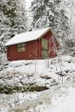 зима коттеджа Стоковые Фотографии RF