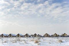 зима коттеджей новая Стоковые Изображения RF