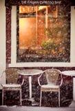 зима кофейни Стоковые Изображения RF
