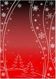 зима красного цвета предпосылки Стоковая Фотография