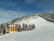 Зима к хате Стоковое фото RF