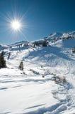 зима ландшафта гористая Стоковые Фотографии RF