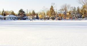 зима ландшафта города стоковые изображения