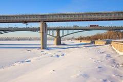 зима ландшафта мостов Стоковые Изображения