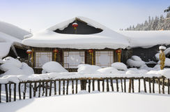 зима ландшафта сельская Стоковые Фотографии RF