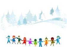 зима ландшафта бесплатная иллюстрация