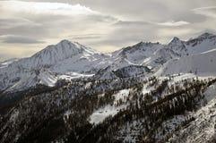 зима ландшафта alps Стоковые Фото
