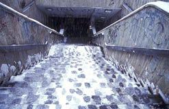 зима лестниц Стоковые Изображения