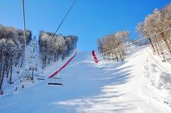 зима лыжи курорта Стоковое Изображение RF