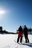 зима лыжи праздника Стоковые Изображения