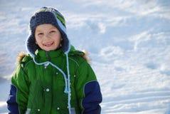 зима мальчика Стоковые Изображения