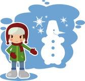 Зима мальчика Стоковые Изображения RF