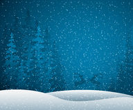 зима места иллюстрация штока