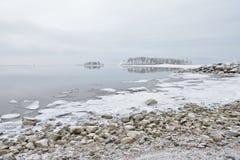 Зима морем Стоковое фото RF