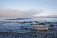 зима моря ландшафта Стоковые Изображения