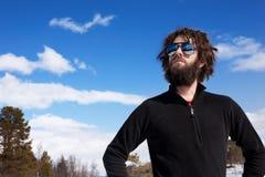 зима мужчины приключения Стоковые Фотографии RF