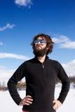 зима мужчины приключения Стоковое Фото