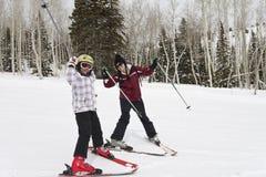 зима наклонов лыжи потехи Стоковые Изображения RF