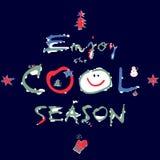 Зима - насладитесь холодным сезоном Стоковые Фото