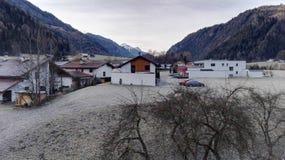 Зима на Альпах стоковая фотография rf