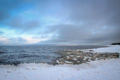 Зима на Балтийском море в Риге Стоковое Изображение RF