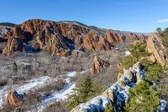 Зима на красной долине Стоковое Изображение