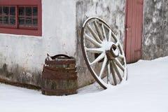 Зима на магазине кузнецов Стоковая Фотография RF