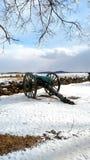 Зима на поле брани Gettysburg Стоковое Изображение