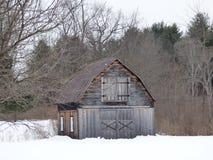 Зима на ферме Стоковое Изображение